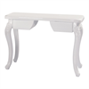 Manicure Table White Top w/ Renaissance Legs and Drawers