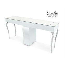 Camelia Manicure Table Double White
