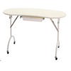 Additional images for Manicure Table Foldable White Kidney Shape