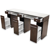 Additional images for Paris Double Manicure Table - Truffle