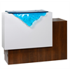 """Additional images for Reception Desk """"46"""" Single 1 white panel w/Waterfall Glass"""